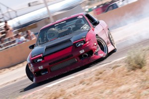 Me drifting my red car at streets of willow